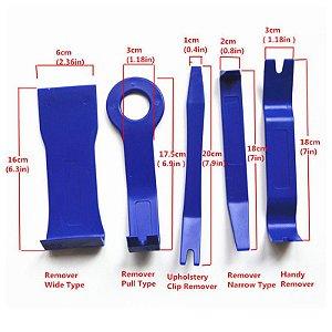 Kit de espátulas 5 peças Alavanca de Plástico Reparo Do Carro Porta Prancha Auto ferramenta de Desmontagem de Som Do Carro