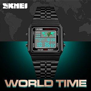Relógio Skmei 1338 Led Digital Esportivo Masculino Black