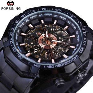 Relógio de pulso Masculino Esqueleton Automático Luxuoso