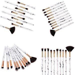 Pincéis de Maquiagem kit com 10 unidades