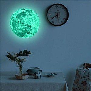 Adesivo Super Lua tamanho 20 cm brilha no Escuro
