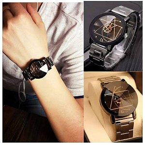 Relógio Leonardo Da Vinci modelo Geométrico