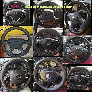 Capas costuradas para volante de carro van Kombi Caminhão Couro Legítimo