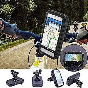 """Suporte Para Celular Capa 4.8""""-5.4"""" Bicicleta Bike Moto Prov.água"""