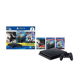 Playstation 4 Slim 1TB Bundle Hits V18 3 Jogos e PSN
