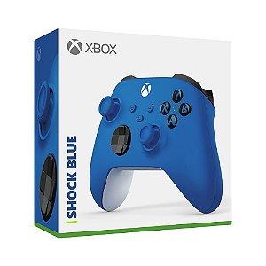 Controle Sem Fio Xbox Shock Blue - Series X, S, One - Azul