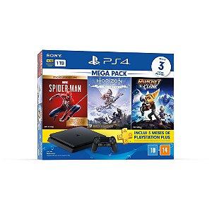Playstation 4 Slim 1TB Bundle Hits V15 3 Jogos e PSN