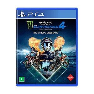 Jogo Monster Energy Supercross PS4 Motocross PS4