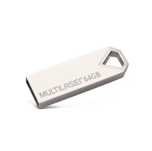 Pen Drive 64 GB Diamond Metálico USB 2.0 PD852 Multilaser