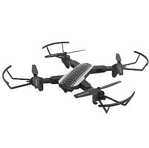 Drone Shark com Câmera HD com Controle Remoto Alcance de 80m FPV Preto Multilaser ES177