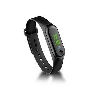 Pulseira Smartwatch Atrio Toquio Bluetooth Monitor Cardíaco Resistente a Água Preto ES264