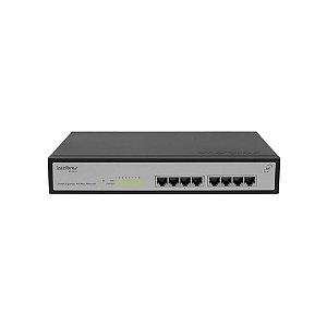 Switch 9 portas Fast Ethernet com 8 portas PoE+  SF 900 PoE Intelbras