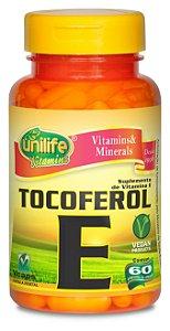 Vitamina E tocoferol 60 capsulas  470 mg - Unilife