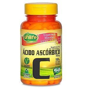 Vitamina C acido ascorbico 60 capsulas 550mg - Unilife
