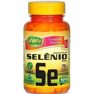 "Selênio quelato ""se"" 60capsulas 500mg- Unilife"