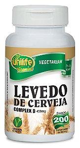 Levedo de cerveja 200 capsulas 450 mg- Unilife