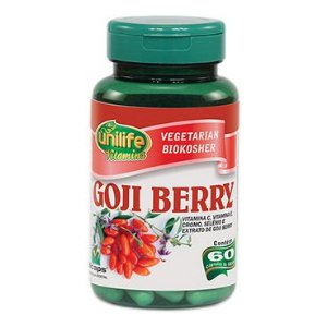 Goji berry vitamina C 60 capsulas  500mg - Unilife
