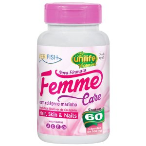 Femme Care Colageno verifish 60capsulas 500mg-Unilife