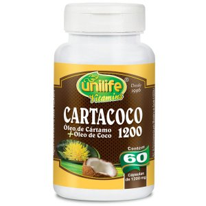 Cartacoco cartamo e coco 60caps 1200mg Unilife