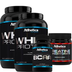 Kit 2 Whey Pro Series 1kg Chocolate  - 1Bcaa - 1Creatina