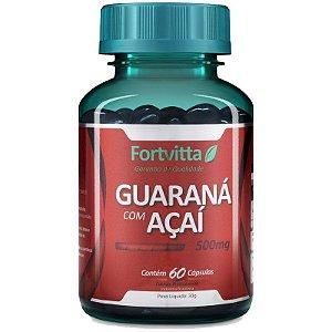 guarana com acai fortvitta 500mg 60 capsulas