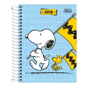 Agenda 2018 Snoopy M4 Espiral Azul Tilibra