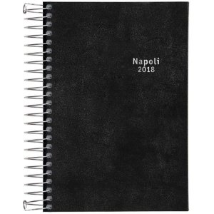 Agenda 2018 Napoli Costurada Preta M5 - Tilibra