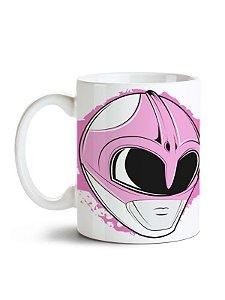 Caneca Power Rangers - Ranger Rosa