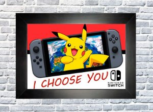 Quadro Pokemon Switch