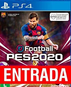 PES 2020 - PS4 [ENTRADA] o restante de cem reais você só paga quando o jogo chegar.