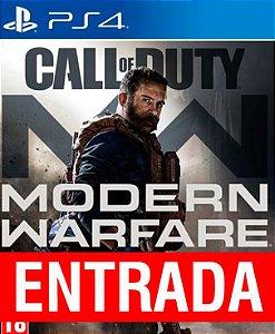 Call of Duty Modern Warfare - PS4 [ENTRADA] o restante de cem reais vocÊ só paga quando o jogo chegar.