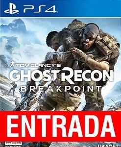 Ghost Recon: Breakpoint - PS4 [ENTRADA] o restante de cem reais você só paga quando o jogo chegar.