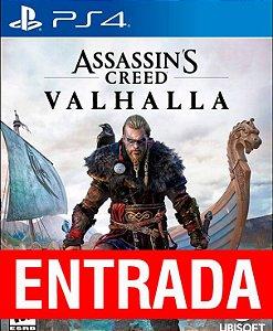 Assassins Creed Valhalla - PS4 (pré-venda) [ENTRADA] o restante de cem reais você só paga quando o jogo chegar.