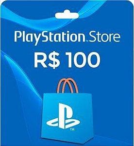 Gift Card Playstation Store Nacional R$ 100 (envio do código imediato)
