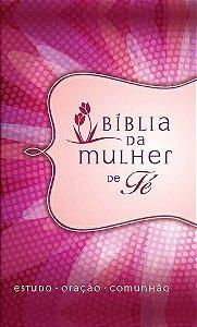 BIBLIA DA MULHER DE FE CAPA ROSA