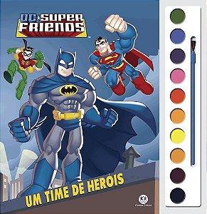 LIVRO PARA COLORIR COM AQUARELA - DC SUPER FRIENDS