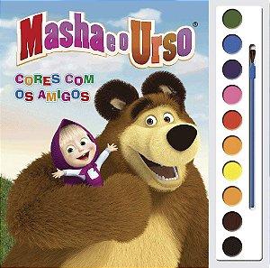 LIVRO PARA COLORIR COM AQUARELA - MASHA E O URSO
