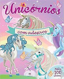 UNICORNIOS COM ADESIVOS - CAPA ROSA E ROXA