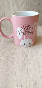 FELIZ PASCOA - AZUL/ROSA