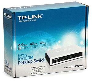Switch de mesa TP-Link de 8 portas 10/100Mbps TL-SF1008D