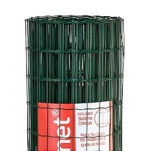 Tela Soldada Belgo Fortinet PVC VERDE 25m (Fio 2,50mm / Malha 5x10cm)