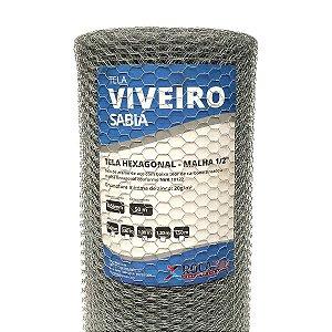 Tela Hexagonal Viveiro 50m  (Fio 24 0,56mm / Malha 1,25cm)