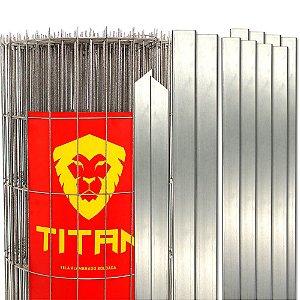 Cerca de Tela Soldada Titan fio 2,50mm, Kit com Postes e Acessórios - 25m