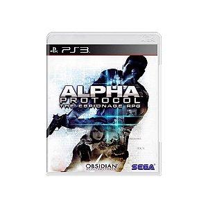 Alpha Protocol: The Espionage RPG - Usado - PS3