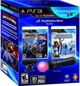 Kit Move Essential Bundle Medieval + Sports Champions Ps Move - |Seminovos| - PS3