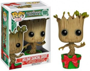 Boneco Funko Pop - Guardiões Da Galáxia - Holiday Dancing groot n°101