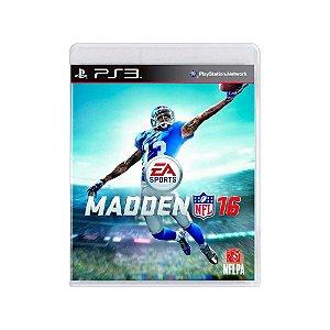 Madden NFL 16 - Usado - PS3