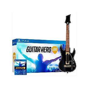 Kit Guitar Hero Live (Guitar Bundle) - Usado - PS4