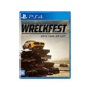 Wreckfest Drive Hard Die Last - Usado - PS4