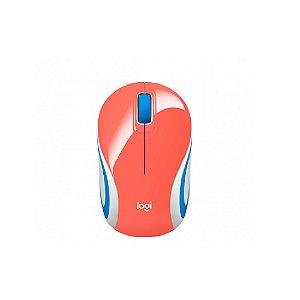 Mini Mouse sem fio Logitech M187 - Coral